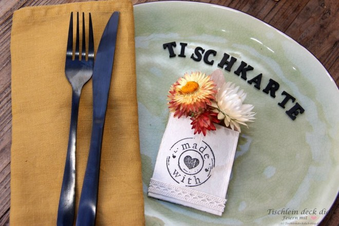 Tischkarte aus Tetrapak basteln