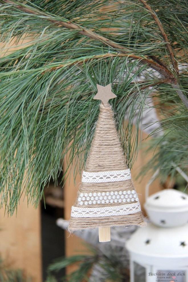 Weihnachtlicher DIY Baumschmuck