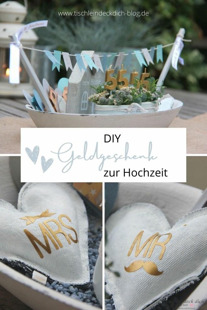 Geldgeschenk DIY zur Hochzeit Pinterest