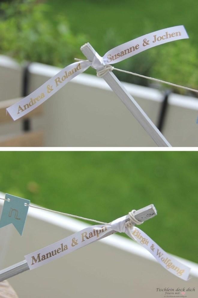 Satinband gestalten mit einem Beschriftungsgerät