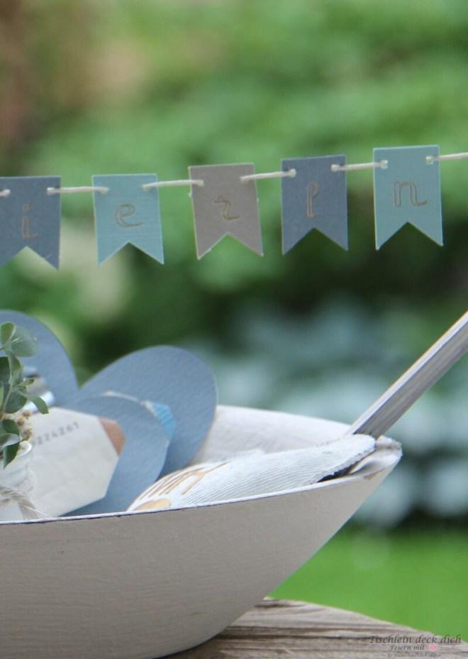 Wimpelkette zur Hochzeit
