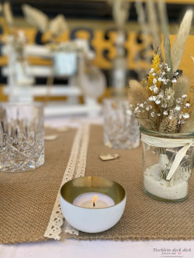 Tischdekoration im Boho Style