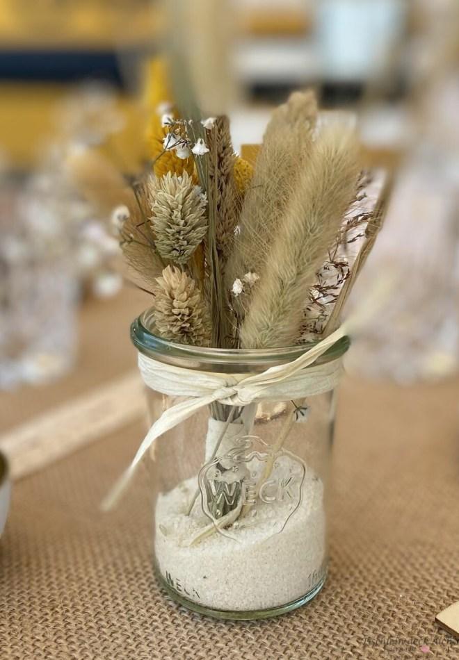 Trockenblumen DIY für die Tischdeko