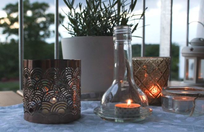 Glasflaschen Upcycling DIY
