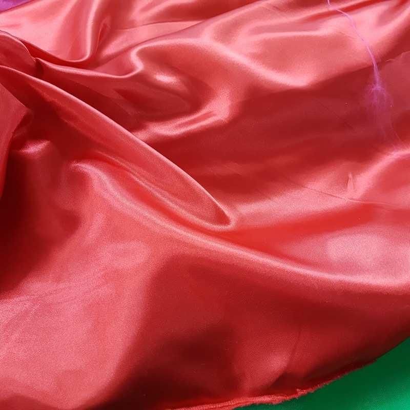 tissu satin couleur rouge pas cher