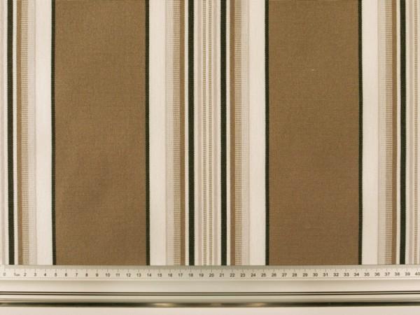 tissu pour store teflonise rayures marron 155cm