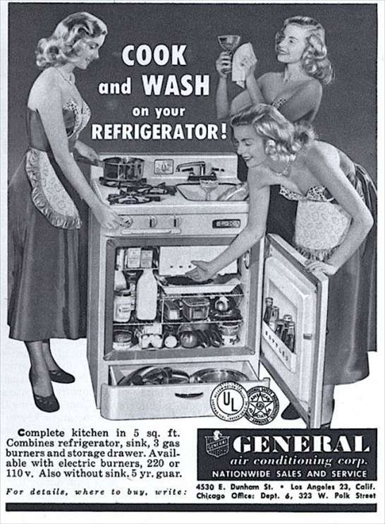 Frigorifero, cucina a gas e lavello tutto in uno!