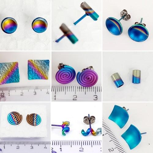1 Titanium oorbellen