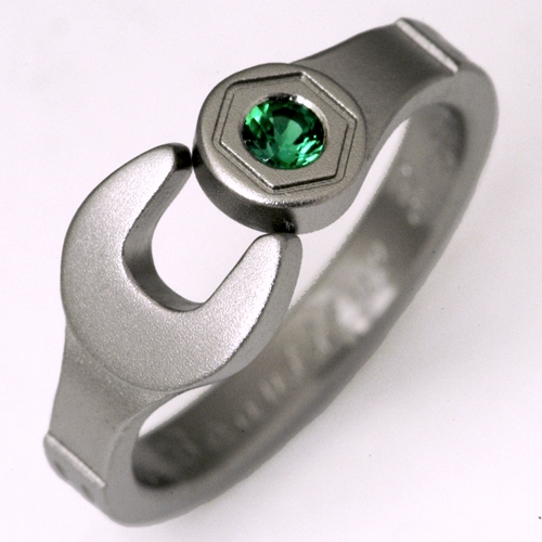 Enfield 1 Titanium Ring With Wrenches Titanium Wedding