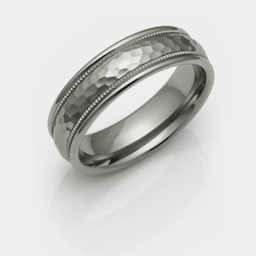 Hammered Titanium Rings And Bands Hammer Finish Rings