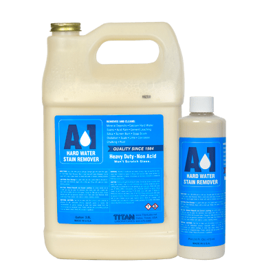 A-1 Hard Water Stain Remover in pint and gallon size