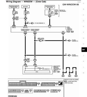 i need wiring diagram for power window switches  Nissan