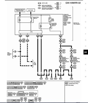 Wiring diagram for powerheated mirrors  Nissan Titan Forum