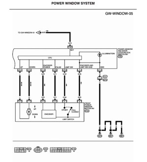 i need wiring diagram for power window switches  Nissan