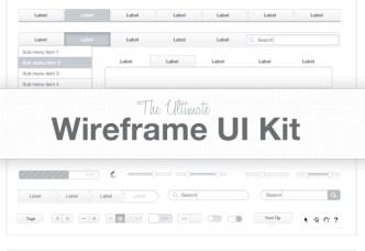 Ultimate Wireframe UI Kit