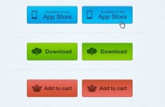 3 Simple Web Buttons - APP Store, Download and Add to Cart