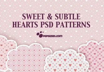 Sweet and Subtle Hearts PSD