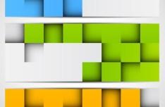 3D Box Vector Banner