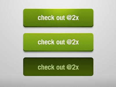 3D Green Web Buttons PSD