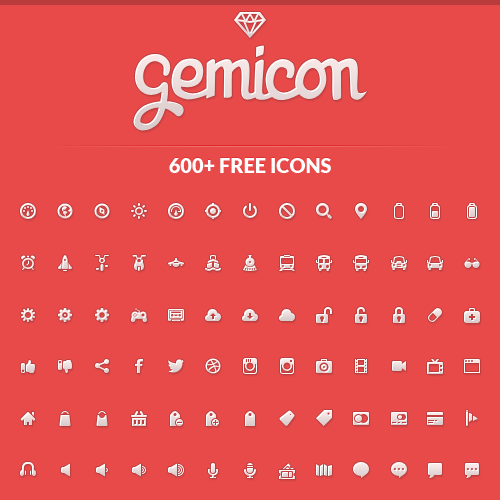 600+ Original High-quality Icons - Gemicon