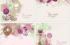 Abstract Flower Backgrounds 02
