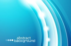 Blue Abstract Curve Vector Background