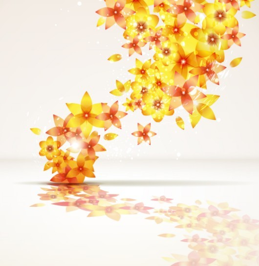 Brightly Colored Floral Background