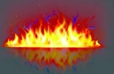 Burning Fire Wall Vector