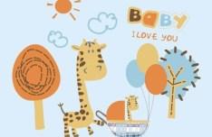 Cartoon Giraffe Vector Illustration