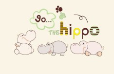 Cartoon Hippopotamus Vector Illustration