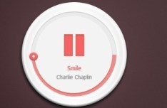 Chunky Thumb Music Player PSD