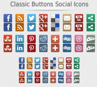 Classic Social Media Buttons