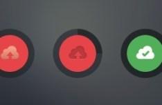 Clean Cloud upload Button