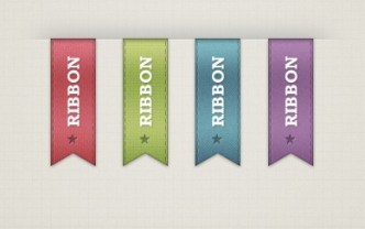 Colored Vertical Ribbons