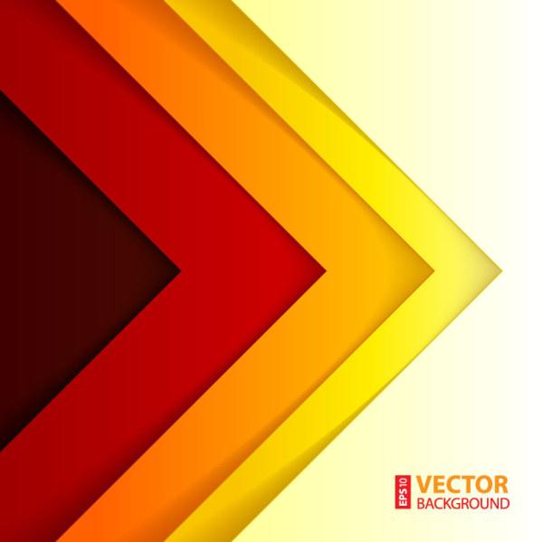 Colorfu Triangle Vector Background