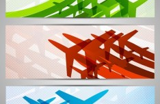 Colorful Aircraft Vector Clipart