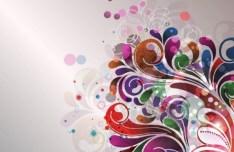 Colorful Flourish Vector Background