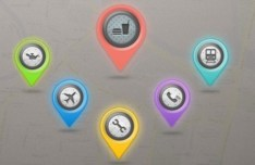 Colorful Google Map Marker Icons PSD