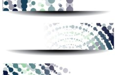 Colorful Polka Dot Vector Banner