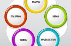Colorful Round Label Design Vector