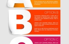 Colorful Vector Banner with Letters