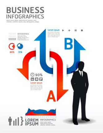 Creative Business Information Vector Graphics 03
