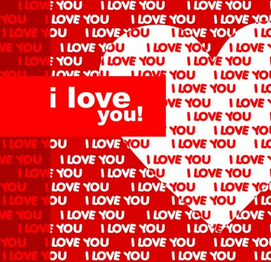 Creative I Love You Vector Background 02