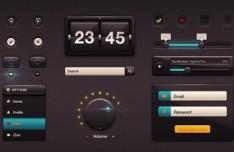 Dark Gloss UI Kit