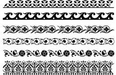 Dark Lace Patterns Vector Texture