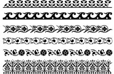 Dark Lace Patterns Vector Texture