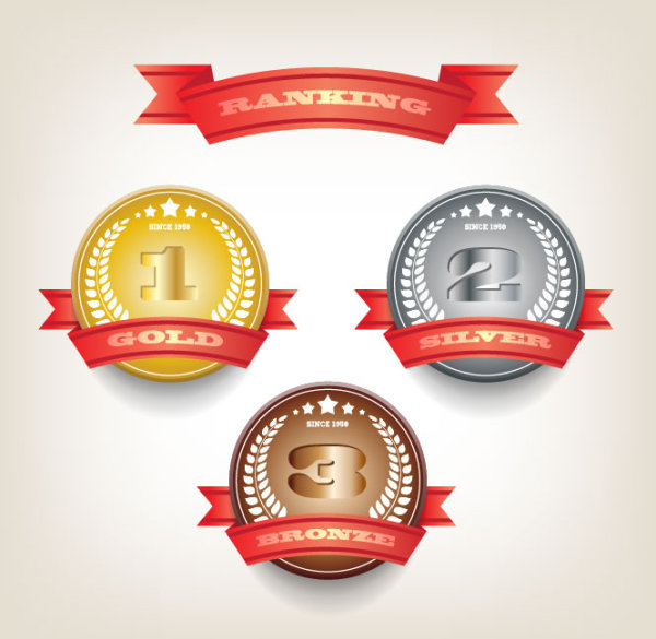 Delicacy Ranking Badge Vector Material