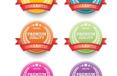 Delicacy Sales Promotion Badge Vector Material