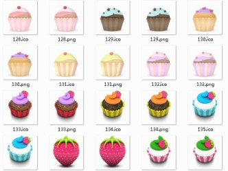 Delicious Cake Icons