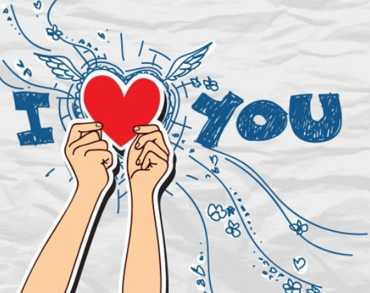 Doodle Style I Love You Illustration Vector 05